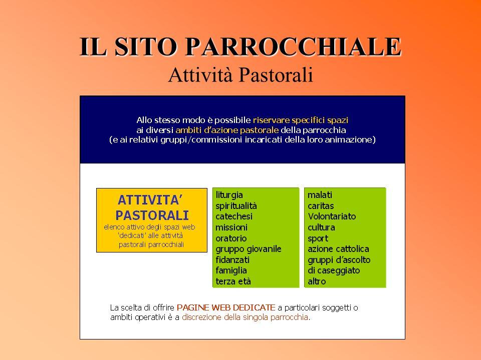 IL SITO PARROCCHIALE IL SITO PARROCCHIALE Attività Pastorali