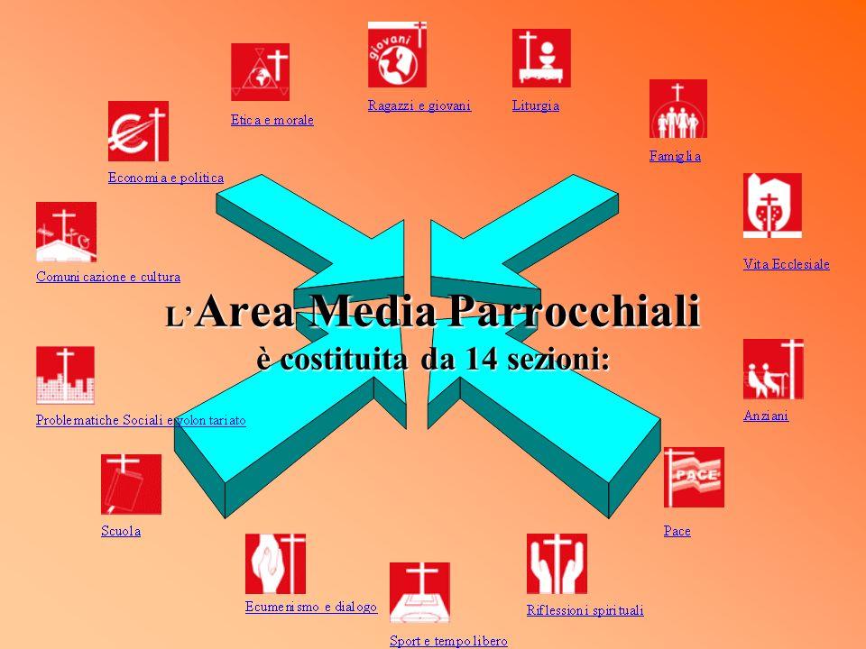 L Area Media Parrocchiali è costituita da 14 sezioni: