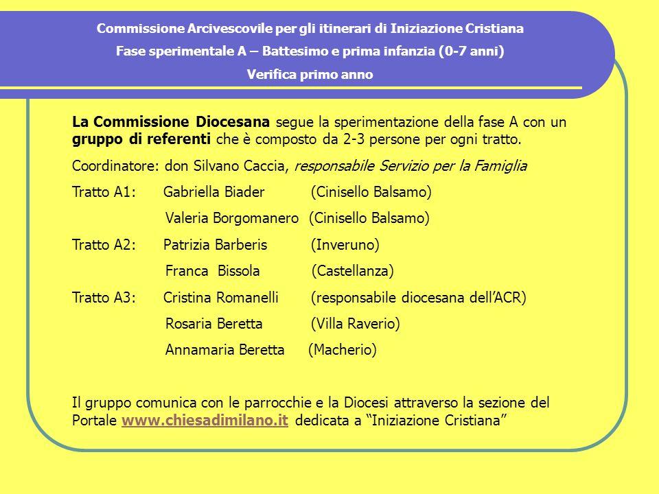 La Commissione Diocesana segue la sperimentazione della fase A con un gruppo di referenti che è composto da 2-3 persone per ogni tratto.