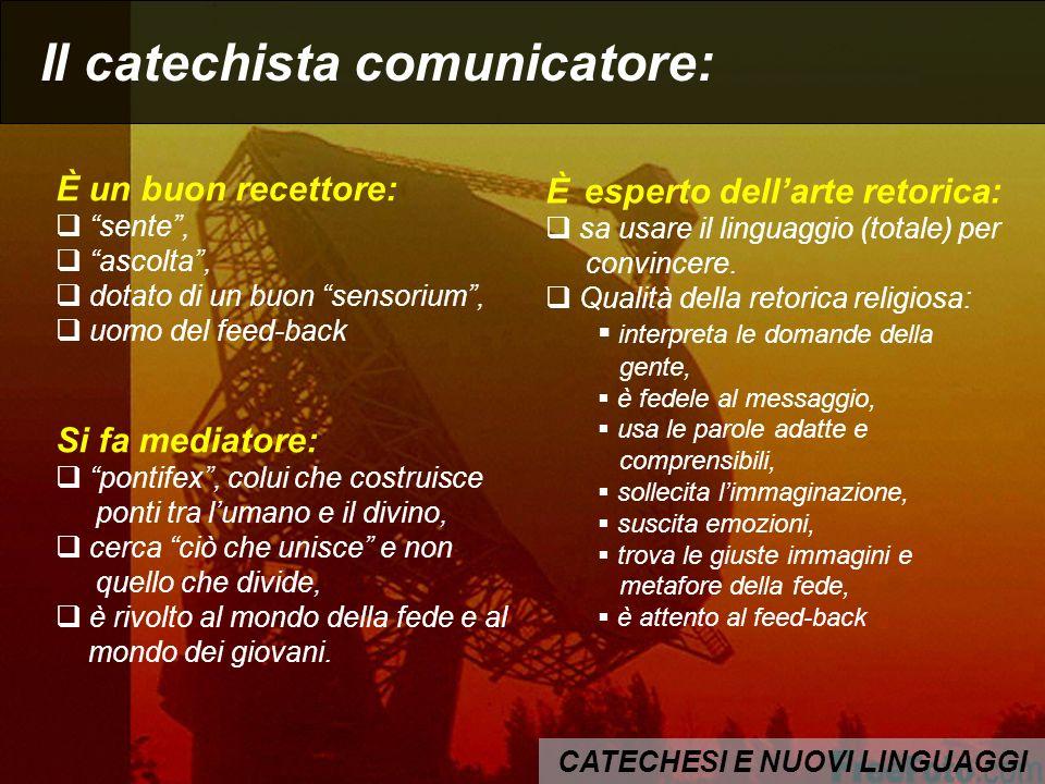 CATECHESI E NUOVI LINGUAGGI Il catechista comunicatore: E un creativo.