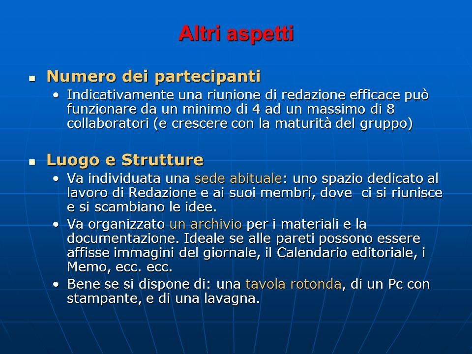 Gestione corretta delle riunioni di Redazione:Gestione corretta delle riunioni di Redazione: chiarezza – ordine del giorno e obiettivi della riunione