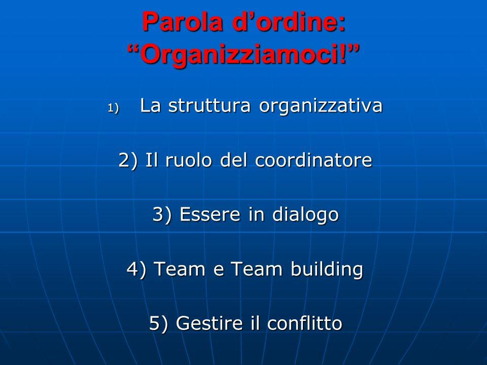 La Redazione Chi fa la differenza è il coordinatore: affinché tutti mantengano lo stesso ritmo e lo facciano in armonia