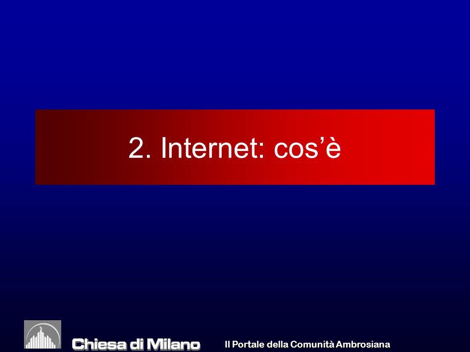 Il Portale della Comunità Ambrosiana 2. Internet: cosè