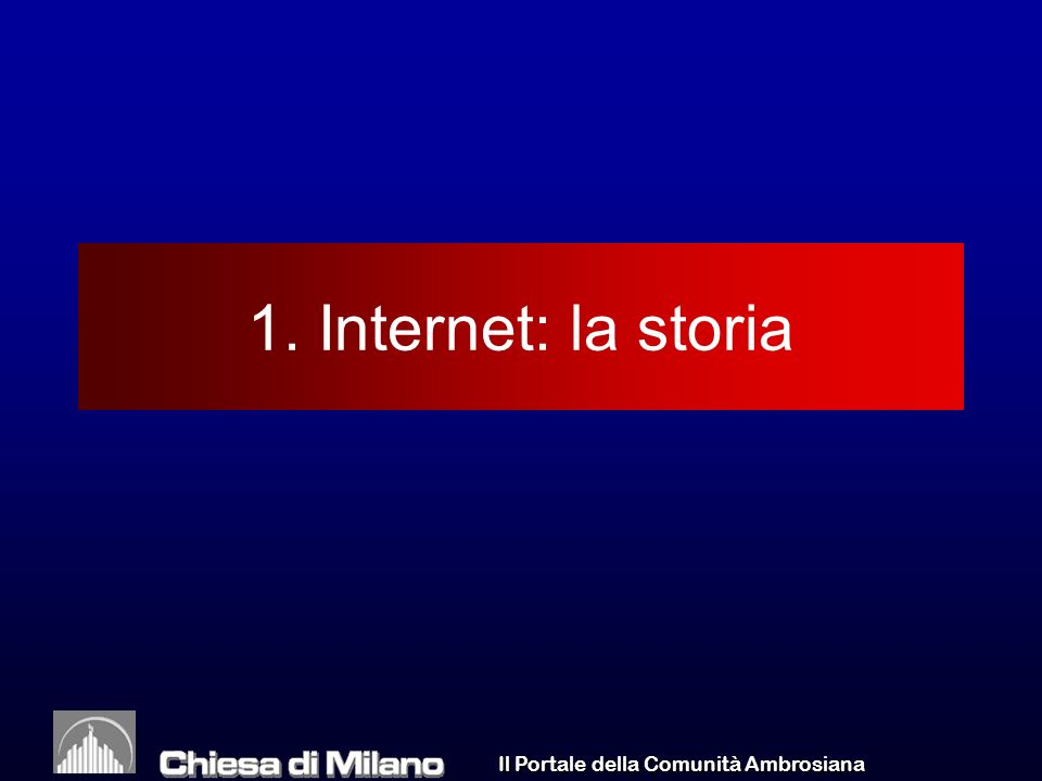 Il Portale della Comunità Ambrosiana WA/05/03 9 Internet La terza rivoluzione della comunicazione La rivoluzione digitale Il passaggio dagli atomi ai bit (N.