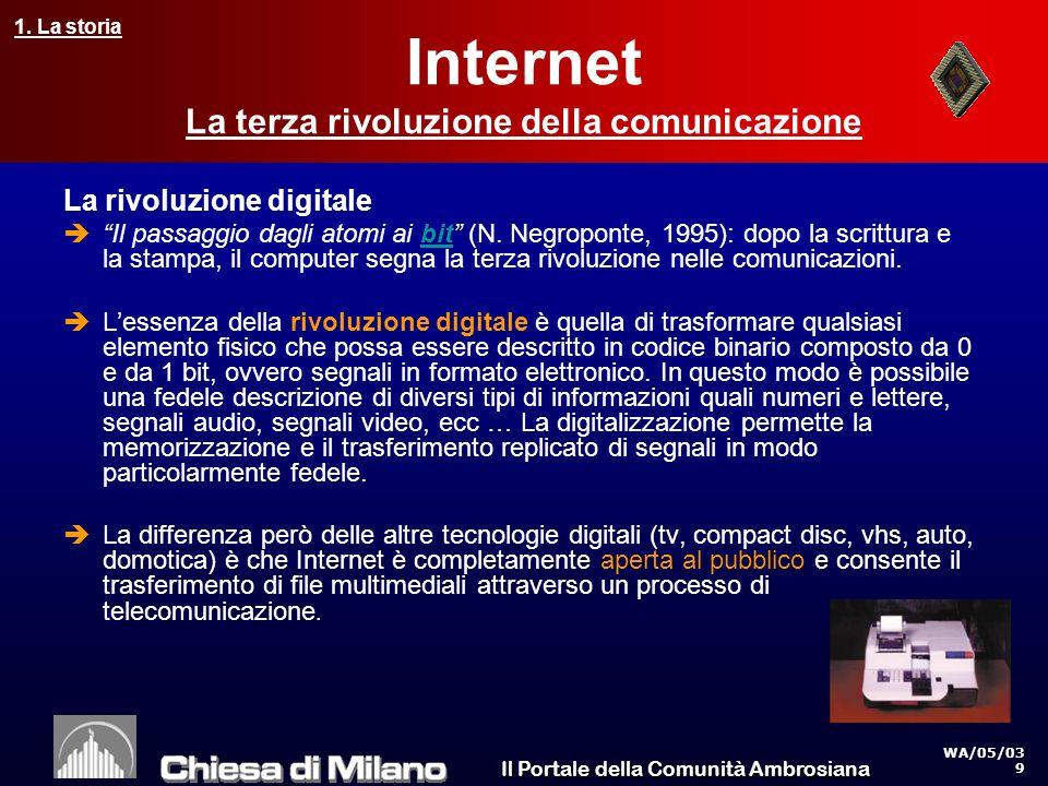 Il Portale della Comunità Ambrosiana 4. I numeri di Internet