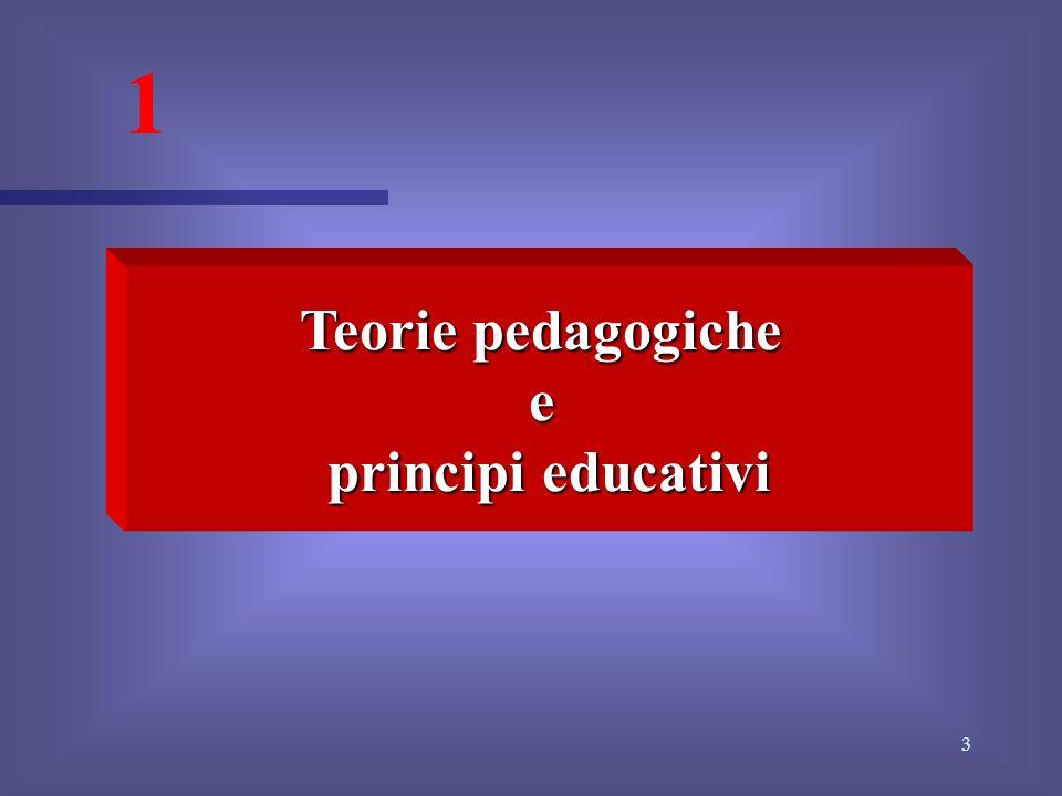 3 1 Teorie pedagogiche e principi educativi