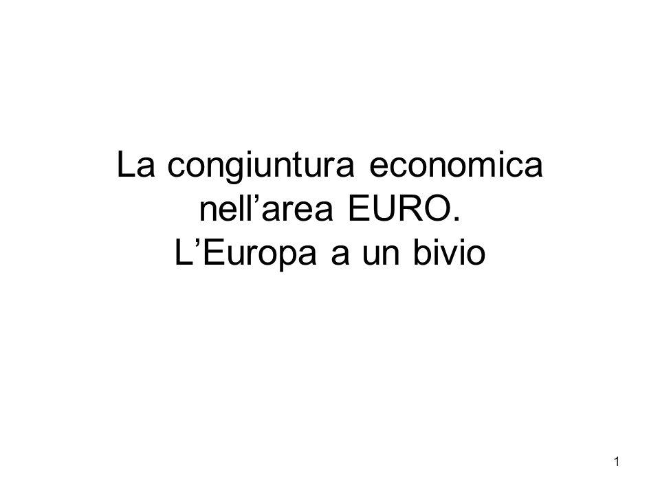 1 La congiuntura economica nellarea EURO. LEuropa a un bivio