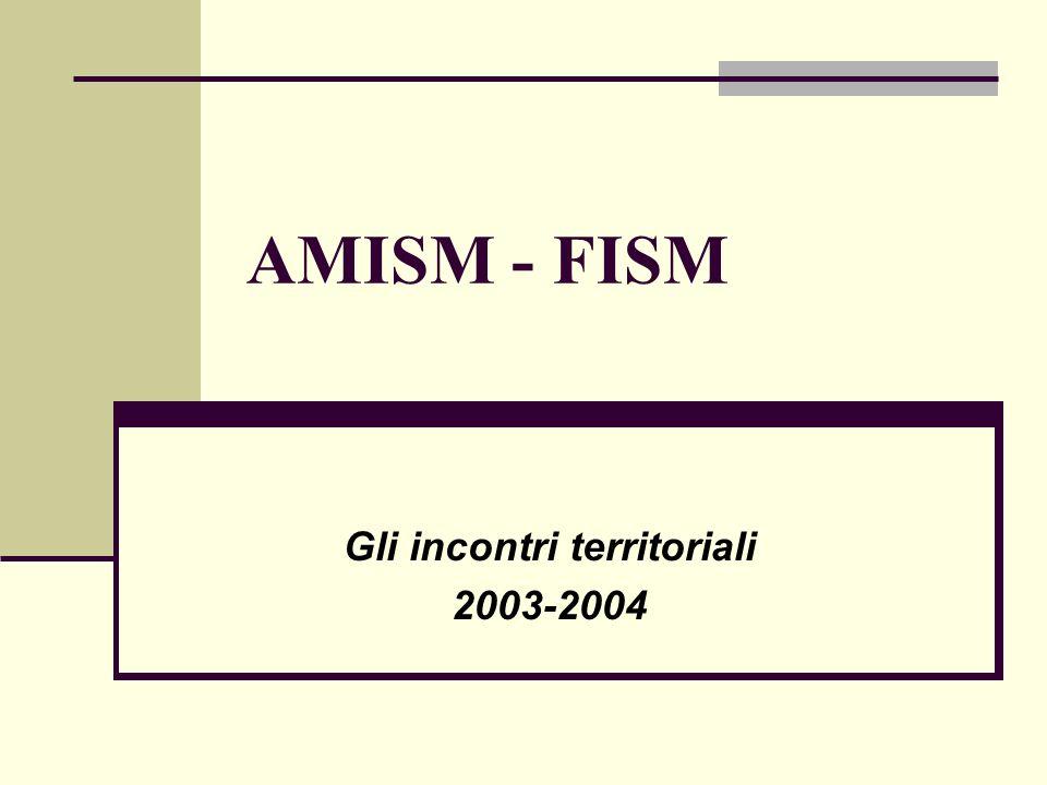 AMISM - FISM Gli incontri territoriali 2003-2004