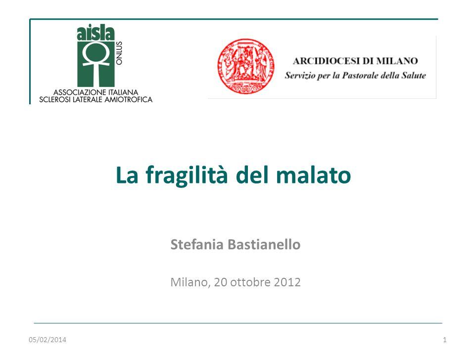 La fragilità del malato Stefania Bastianello Milano, 20 ottobre 2012 05/02/20141