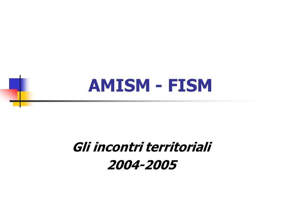 AMISM - FISM Gli incontri territoriali 2004-2005