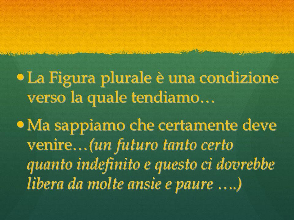 La Figura plurale è una condizione verso la quale tendiamo… La Figura plurale è una condizione verso la quale tendiamo… Ma sappiamo che certamente dev