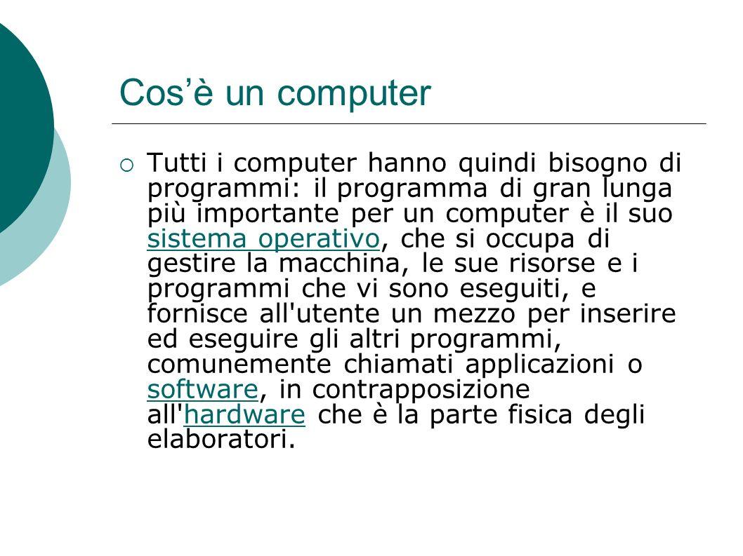 Cosè un computer Quindi un computer può essere qualcosa di diverso da questo oggetto: