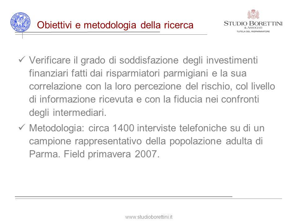 www.studioborettini.it Latteggiamento nei confronti del rischio Qual è per lei linvestimento finanziario in assoluto più sicuro?
