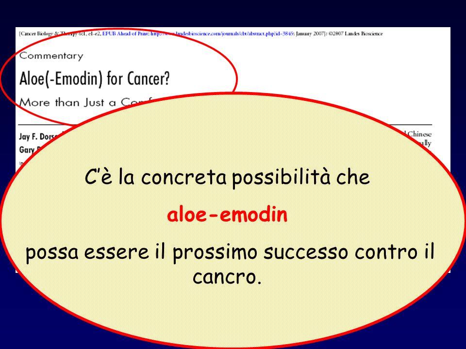 Cè la concreta possibilità che aloe-emodin possa essere il prossimo successo contro il cancro.