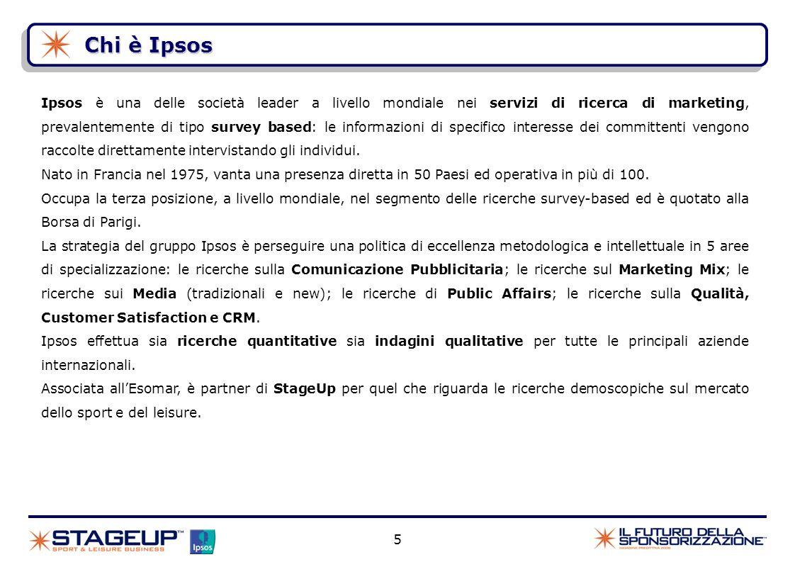 5 Chi è Ipsos Ipsos è una delle società leader a livello mondiale nei servizi di ricerca di marketing, prevalentemente di tipo survey based: le inform