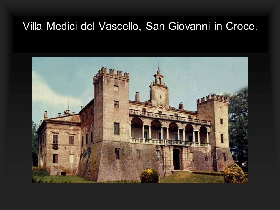 Villa Medici del Vascello, San Giovanni in Croce.