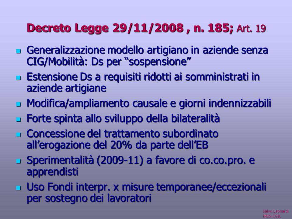 Decreto Legge 29/11/2008, n. 185; Art.