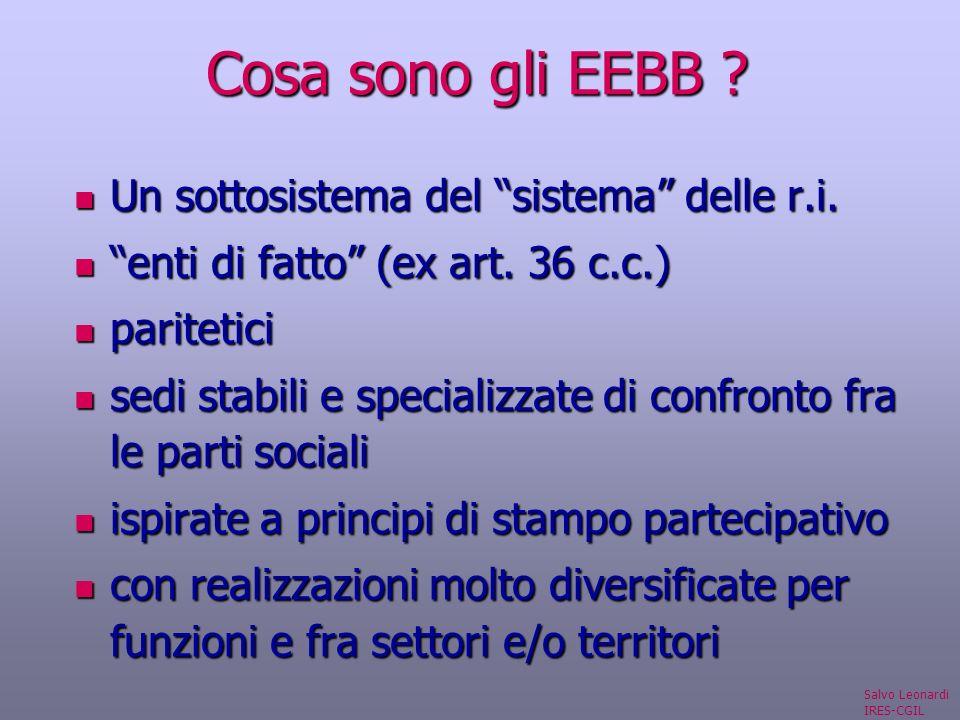 Cosa sono gli EEBB . Un sottosistema del sistema delle r.i.