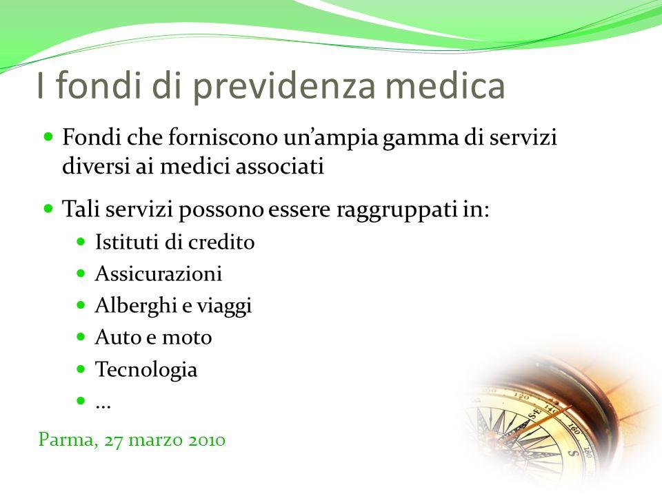 Intervista ai medici Creazione di un questionario Parma, 27 marzo 2010 Due parti: Dati anagrafici Importanza attribuita ai singoli servizi Distribuzione a 54 intervistati tra medici ed odontoiatri