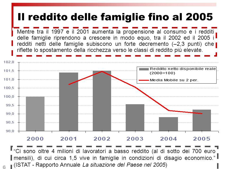 6 Ci sono oltre 4 milioni di lavoratori a basso reddito (al di sotto dei 700 euro mensili), di cui circa 1,5 vive in famiglie in condizioni di disagio economico.