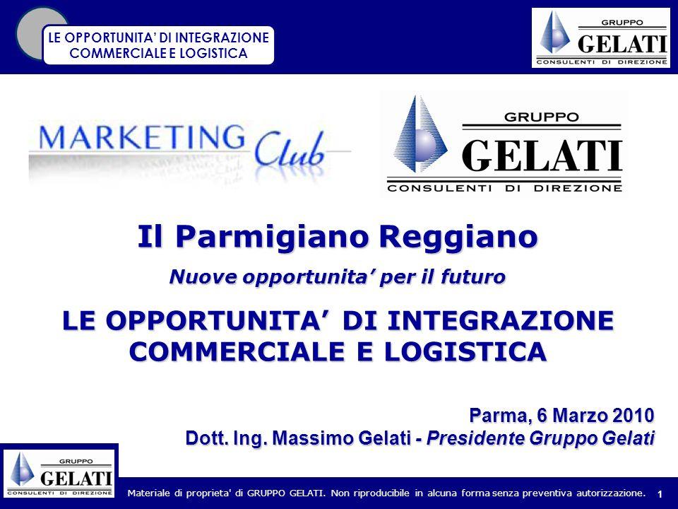 Materiale di proprieta' di GRUPPO GELATI. Non riproducibile in alcuna forma senza preventiva autorizzazione. 1 Parma, 6 Marzo 2010 Dott. Ing. Massimo