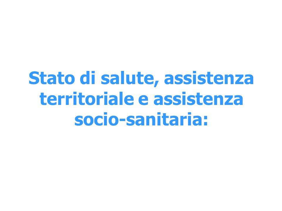 Stato di salute, assistenza territoriale e assistenza socio-sanitaria: