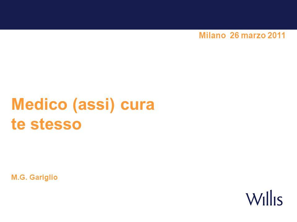 Milano 26 marzo 2011 Medico (assi) cura te stesso M.G. Gariglio