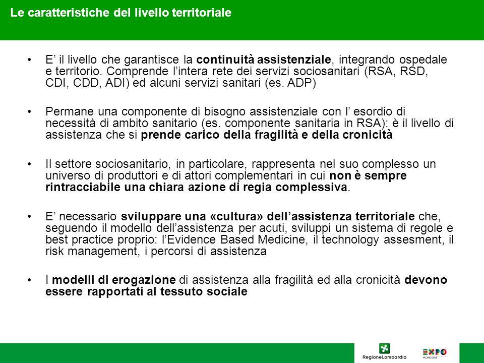 16 Le caratteristiche del livello territoriale E il livello che garantisce la continuità assistenziale, integrando ospedale e territorio. Comprende li