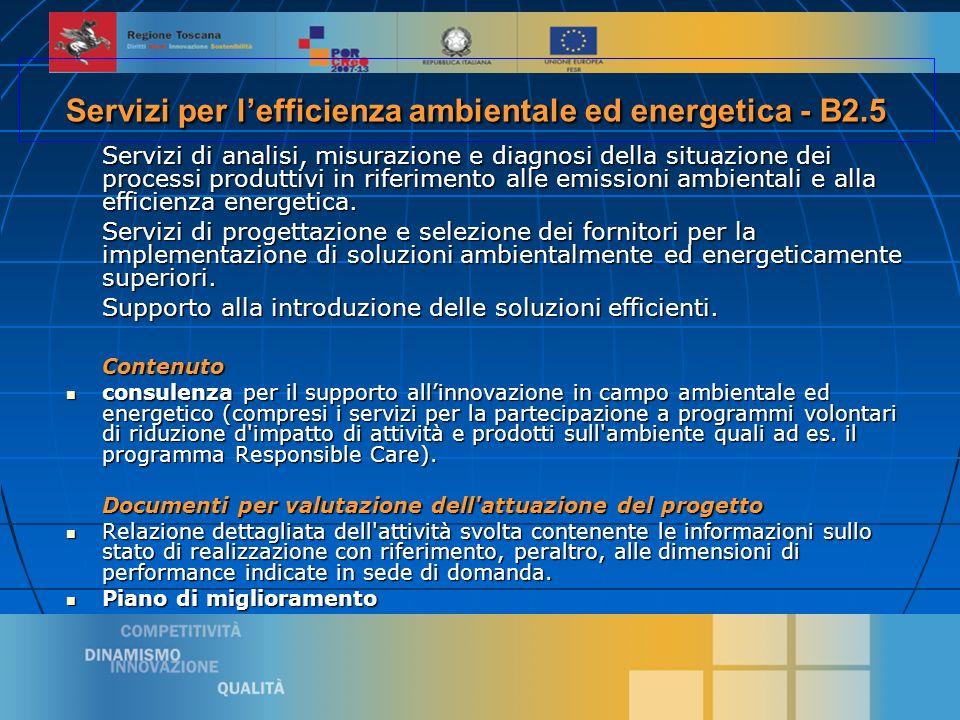 10 Servizi di analisi, misurazione e diagnosi della situazione dei processi produttivi in riferimento alle emissioni ambientali e alla efficienza energetica.