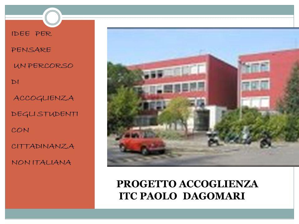 PROGETTO ACCOGLIENZA ITC PAOLO DAGOMARI IDEE PER PENSARE UN PERCORSO DI ACCOGLIENZA DEGLI STUDENTI CON CITTADINANZA NON ITALIANA