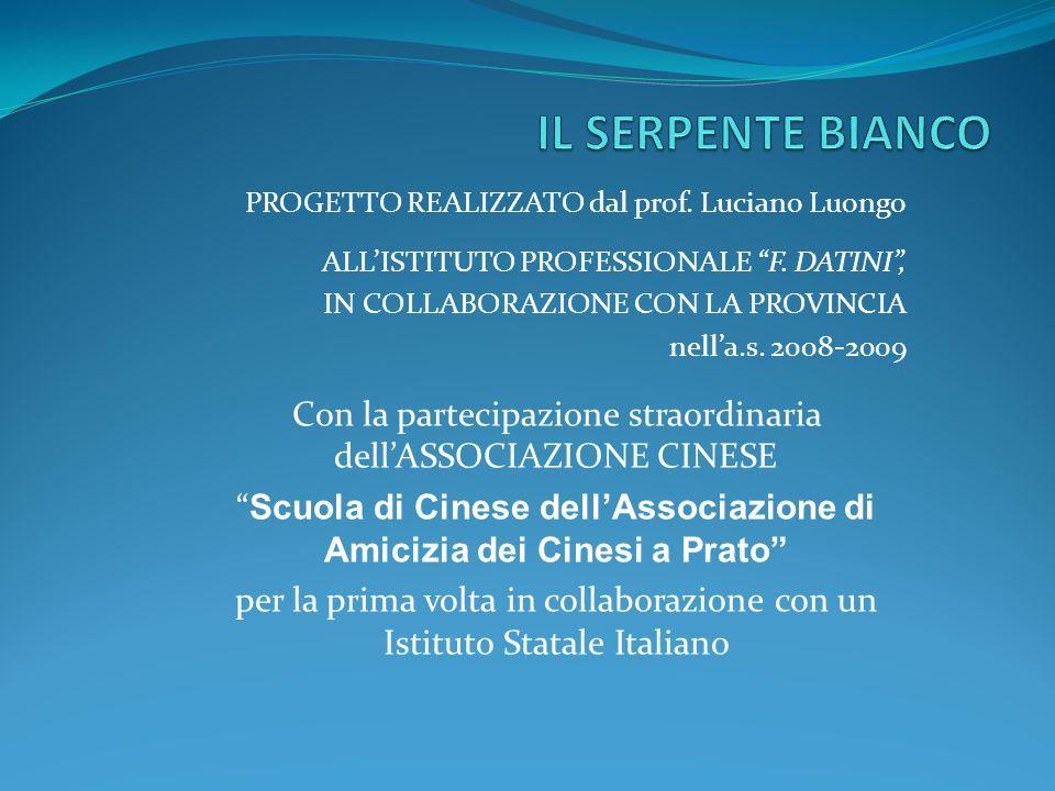 PROGETTO REALIZZATO dal prof. Luciano Luongo ALLISTITUTO PROFESSIONALE F.