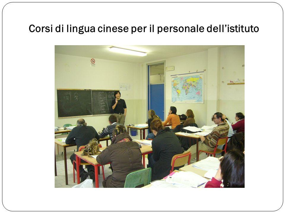 Corsi di lingua cinese per il personale dellistituto