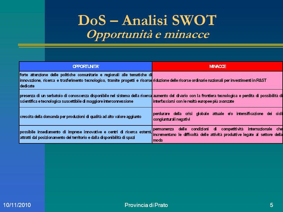 Provincia di Prato1610/11/2010 Obiettivi e risultati attesi