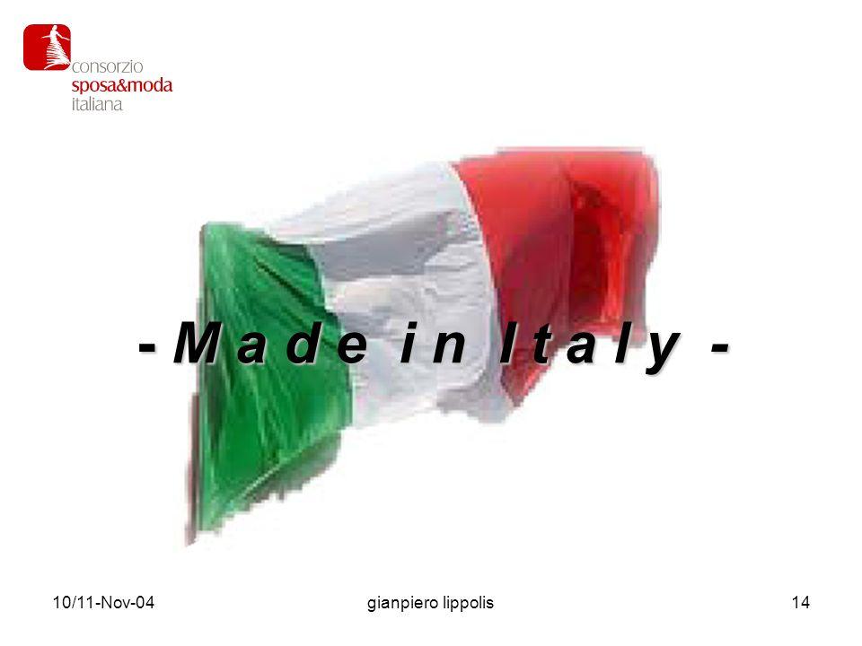 10/11-Nov-04gianpiero lippolis14 - M a d e i n I t a l y -