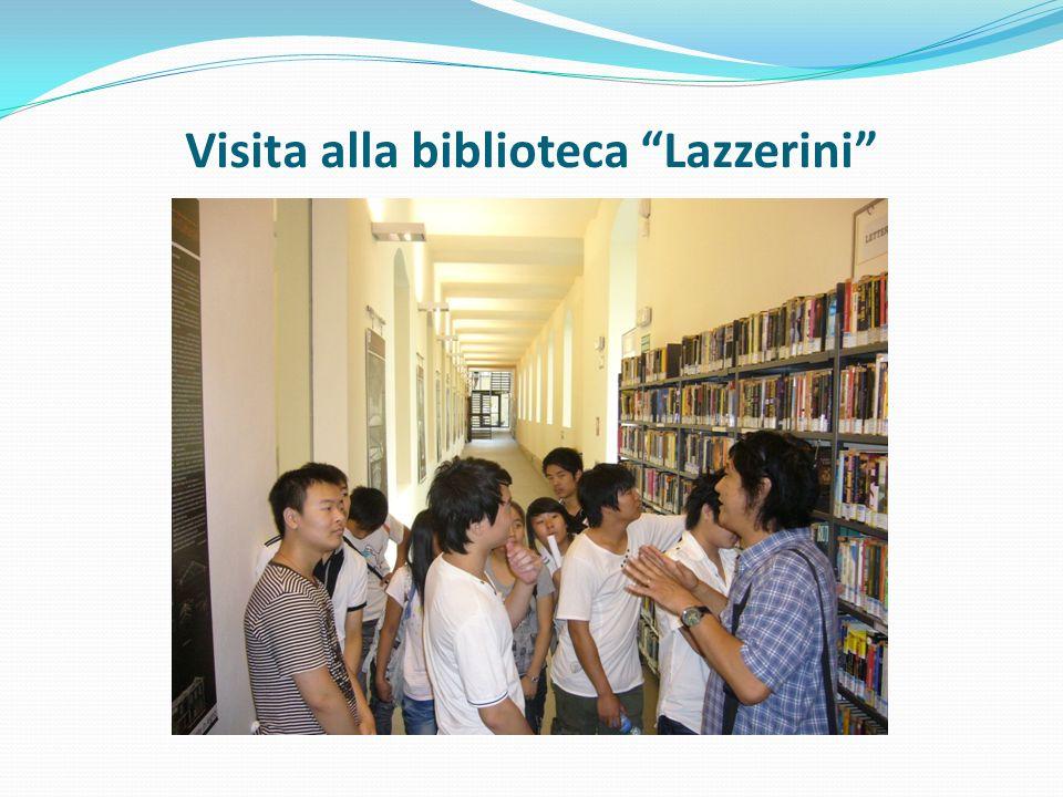 Visita alla biblioteca Lazzerini