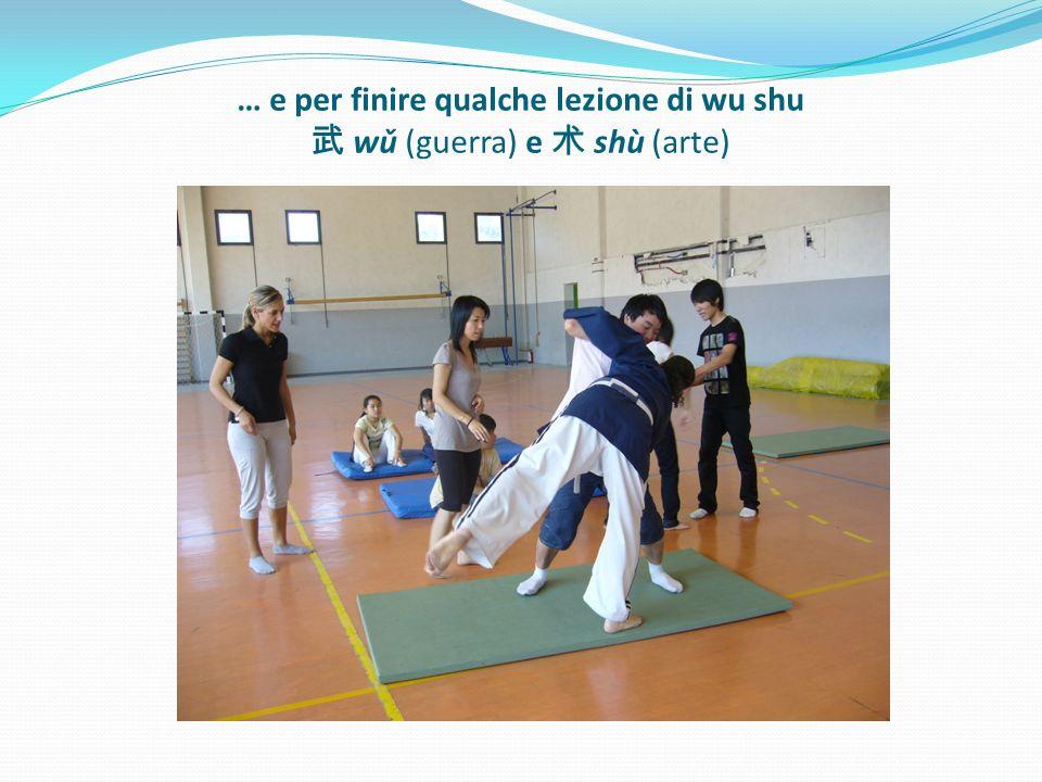 … e per finire qualche lezione di wu shu wǔ (guerra) e shù (arte)