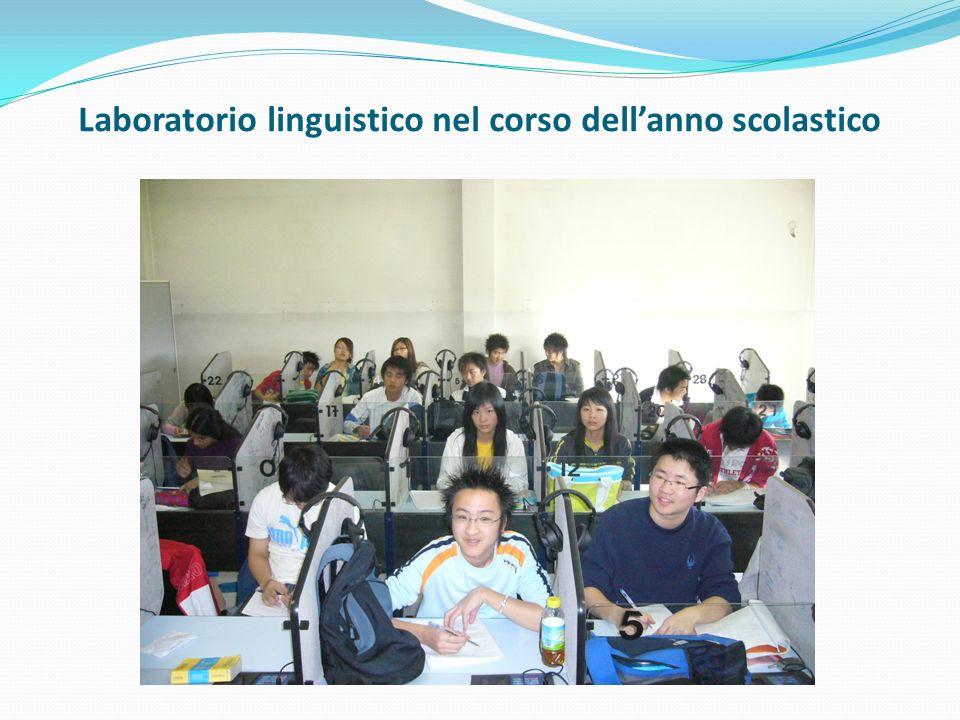 Laboratorio linguistico nel corso dellanno scolastico