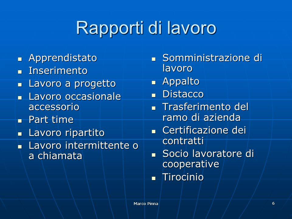 Marco Pinna 17 Appalto Un committente incarica un imprenditore di compiere unopera o un servizio a fronte di un corrispettivo in denaro.