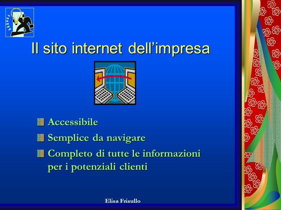Elisa Frisullo E-business E-business Informatizzazione degli uffici dellimpresa Creazione del sito internet dellazienda tramite società specializzate nel settore informatico Partnership con i fornitori attraverso la rete