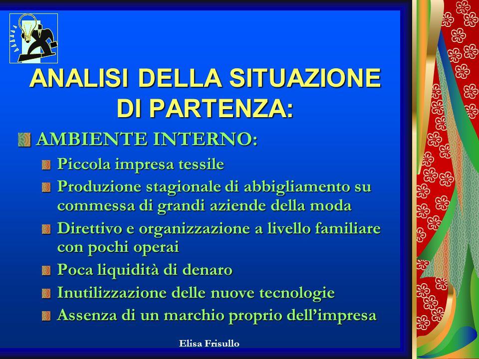 Elisa Frisullo Problema: Cosa fare per far sopravvivere la azienda alla crisi in atto del T.A.C..