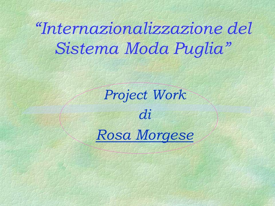 Internazionalizzazione del Sistema Moda Puglia Project Work di Rosa Morgese