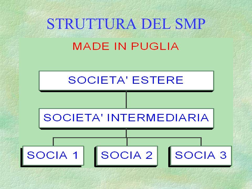 STRUTTURA DEL SISTEMA MODA PUGLIA