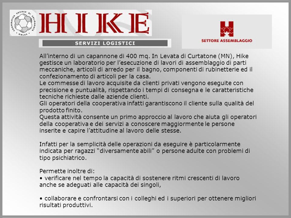 Dai primi mesi del 2004 Hike svolge per conto dellazienda TEA S.p.A.