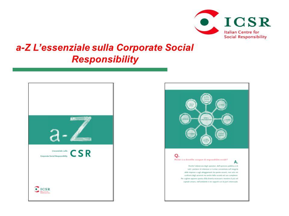 a-Z Lessenziale sulla Corporate Social Responsibility