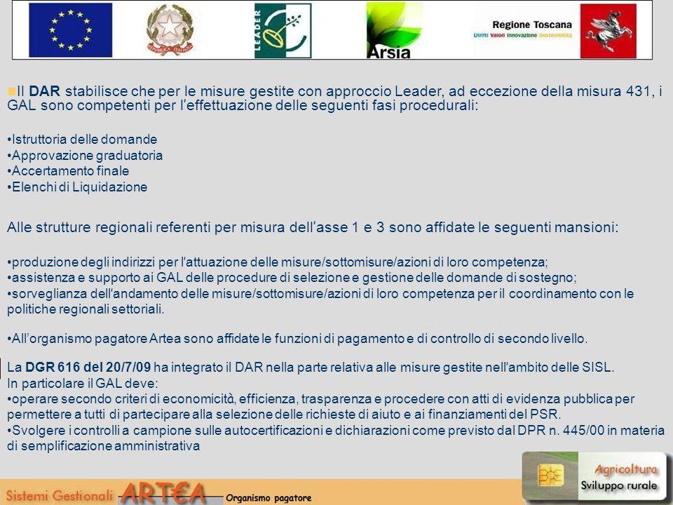 18 ASSEGNAZIONE RISORSE MISURA 41 PER GAL E PER ANNO GAL2009201020112012Totale Consorzio Appennino Aretino 0,001.691.280,003.651.208,001.466.683,006.809.171,00 GAL Etruria S.c.r.l.0,001.169.020,002.523.733,001.013.778,004.706.531,00 GAL Fabbrica Ambiente e Rurale Maremma S.c.r.l.