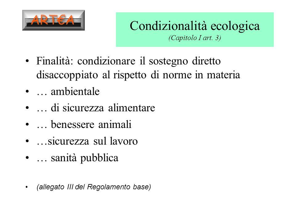 Condizionalità ecologica (Capitolo I art.