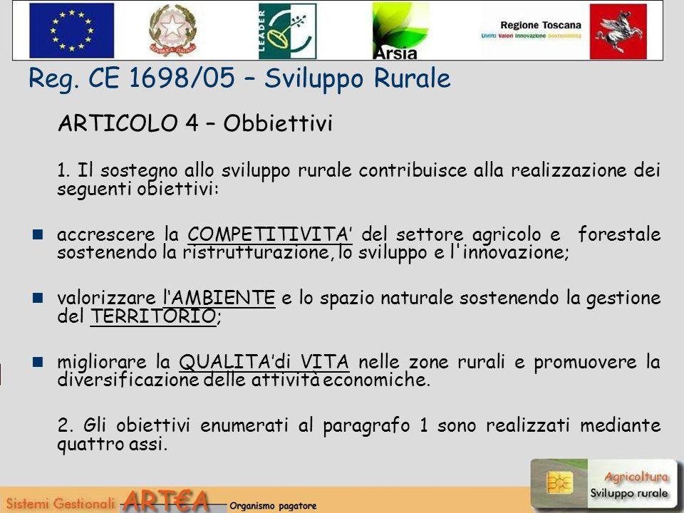 ARTICOLO 4 – Obbiettivi 1.