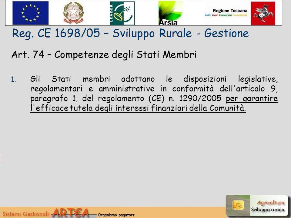 Art. 74 – Competenze degli Stati Membri 1.