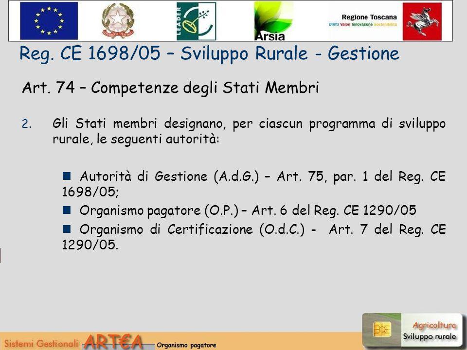 Art. 74 – Competenze degli Stati Membri 2.