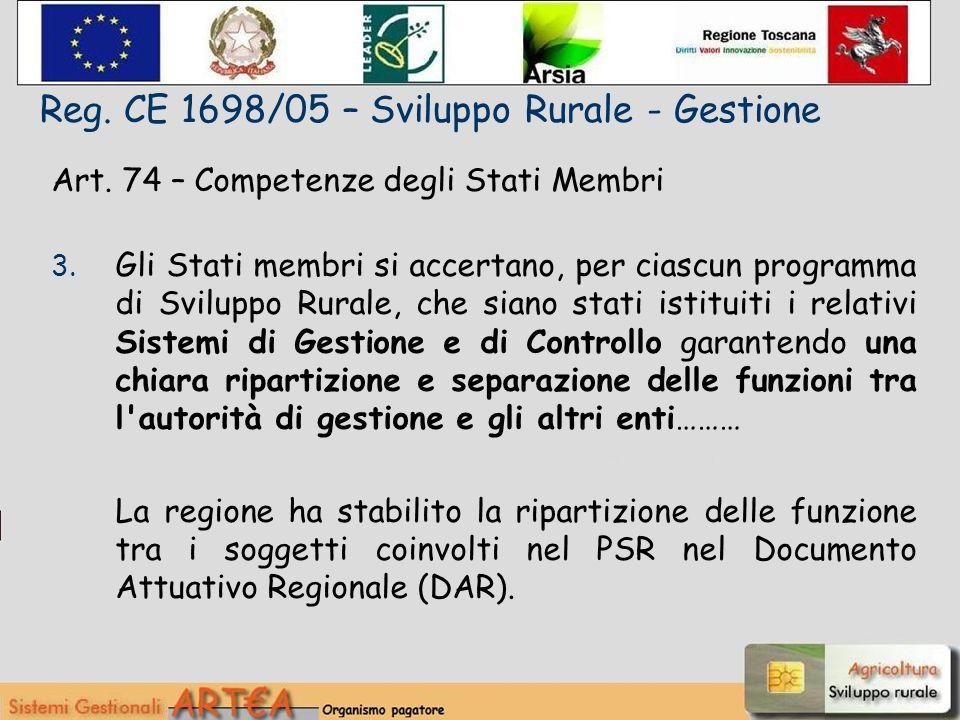 Art. 74 – Competenze degli Stati Membri 3.